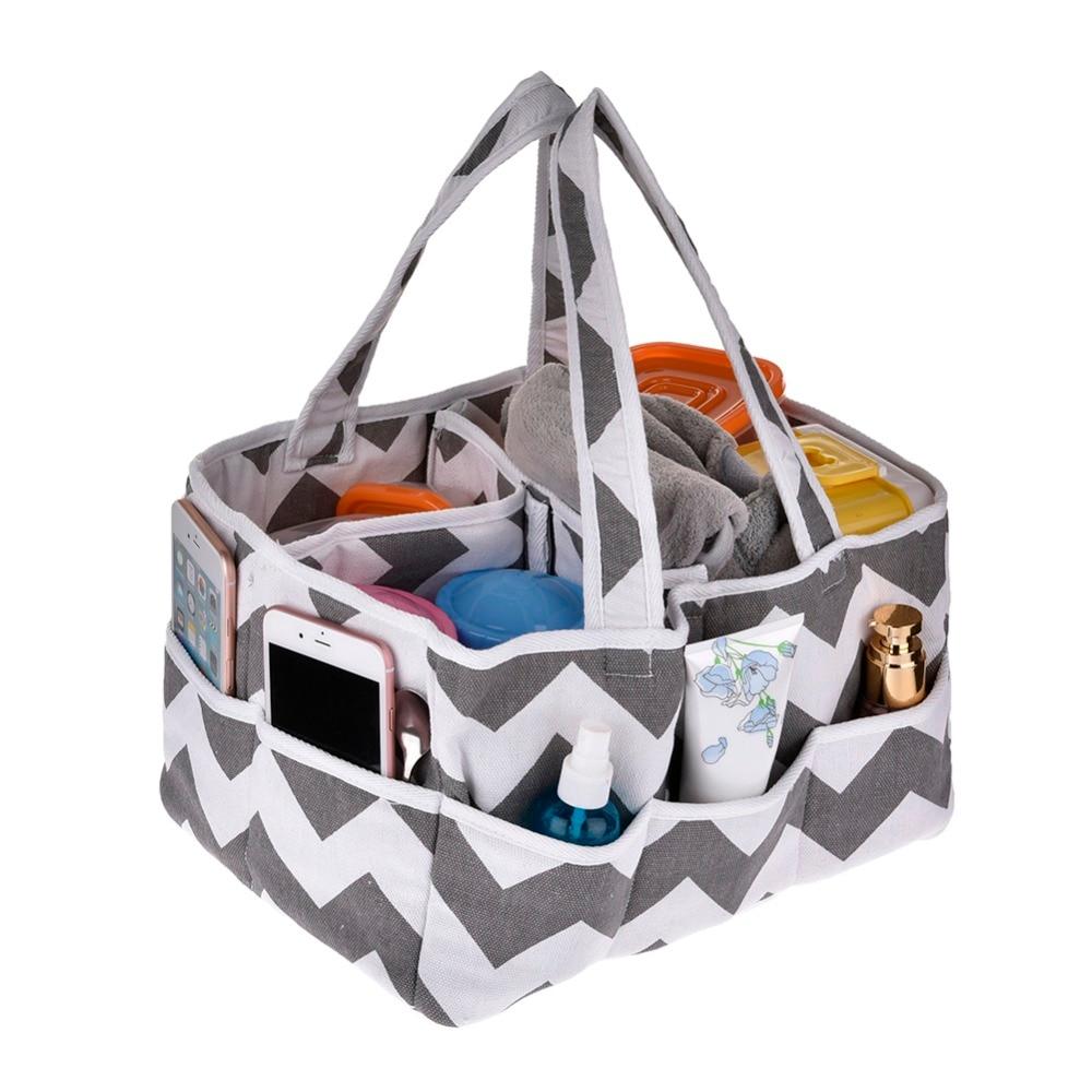 Us 19 99 20 Off Baby Diaper Bag Insert Organiser 3 Compartment Infant Nursery Tote Storage Bin Portable Organizer Newborn Basket In