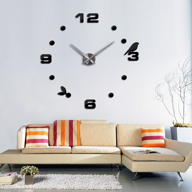 2017 New Clock Watch Clocks Large Wall Stickers Home Decoration Living Room  3d Diy Acrylic Mirror Horloge Free Hot Shipping In Wall Clocks From Home ... Part 27