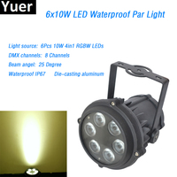 6x10W RGBW 4in1 Waterproof Led Par Light Die casting aluminum Outdoor LED Par Can DMX led lamp 8 channels Mini Size for DJ Disco
