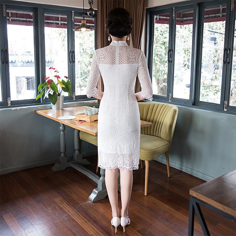 2019 baru Fesyen & Kasual Cheongsam pakaian tradisional Cina Pendek - Pakaian kebangsaan - Foto 3