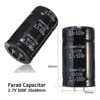Newest 1pcs Black Farad Capacitor 2 7V 500F 35x60MM Super Capacitor Hot Sale Best Promotion