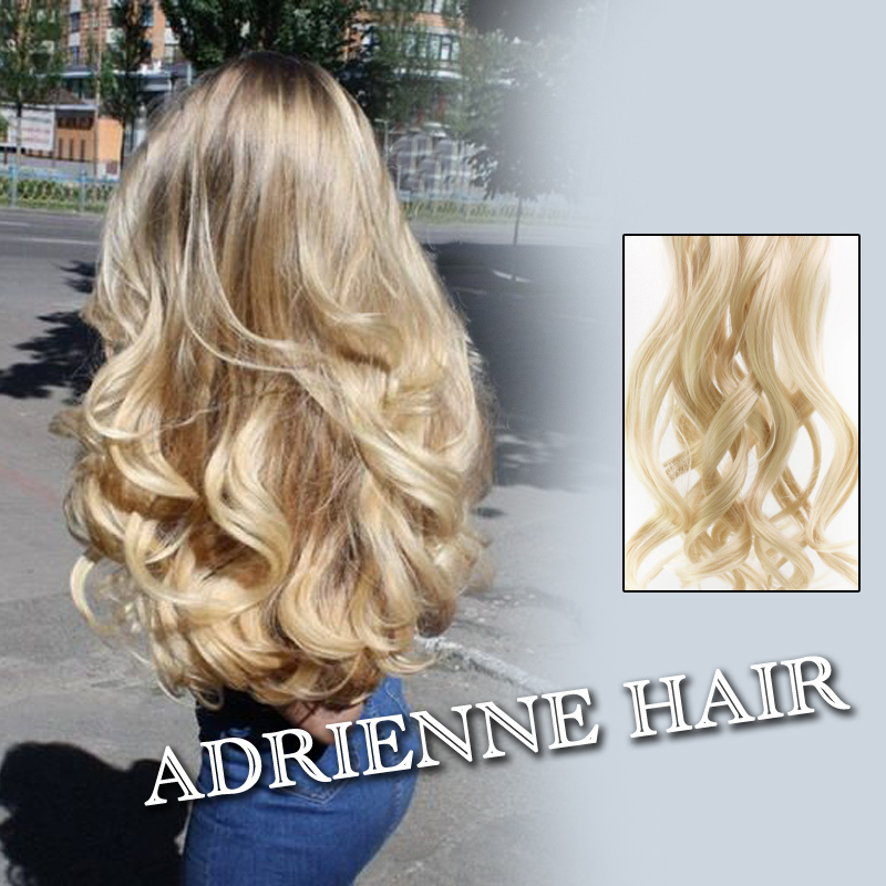 New 1pc Wavy Halo Hair Extensions 22inch 55cm M01 Hairpiece Hair