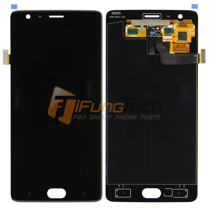 5.5 For OnePlus 3T A3010 LCD Display + Touch Screen with Digitizer Assembly , 10pcs/lot, Free DHL shipping
