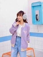 Принцесса Милая куртка Лолита свободное и повседневное пальто Радуга вышивка коллаж ветер однобортный карман куртка для женщин VC272