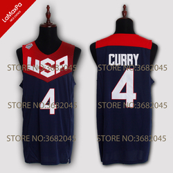Throwback Stephen Curry 4# James Harden 13# Carmelo Anthony 15# Team 2008 and 2014 Commemorative Stitched USA Basketball Jersey
