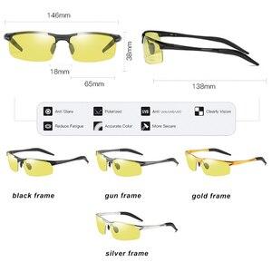 Image 5 - Top Aluminum Magnesium Photochromic Sunglasses Men Driving Polarized Glasses Day Night Vision Driver Goggles gafas oculos de sol