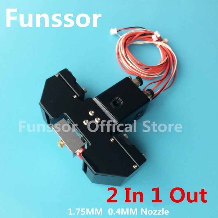 Funssor  All metal 1.75mm  Cyclops 2 in 1 out  hotend printing head kit for UM2+ Ultimaker 3D printer