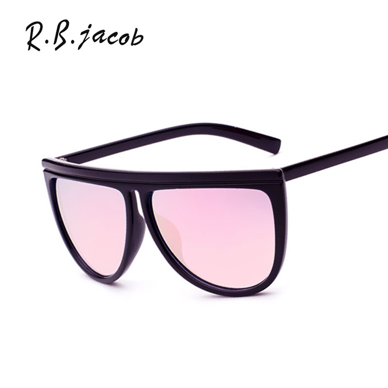 Hipster Big Size Brand Designer Sunglasses Women UV400 Lady Sun Glasses Female Mirror Points Shades Oversize Pink