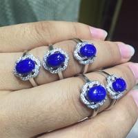 Sólido Plata 925 y Naturales Lapis Lazuli de Anillo de Las Mujeres 100% 925 Joyería de Plata Esterlina Anillo Libre de la Caja Original de Piedra Regalos