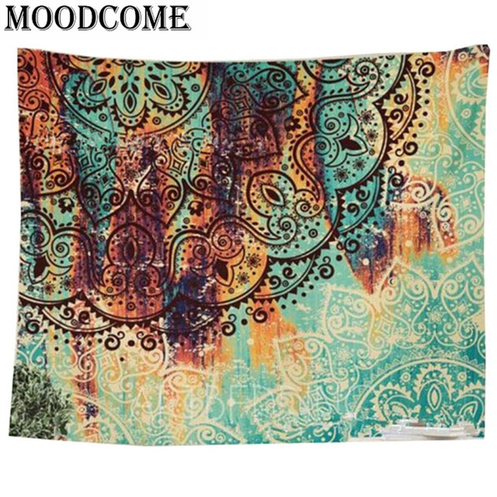Indien mur mandala couverture decoracion polyester boho mur tapisserie indian tapisserie suspendue