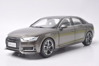 1:18 Diecast Model for Audi A4L 2017 Brown Alloy Toy Car Miniature Collection Gifts A4 S4 image