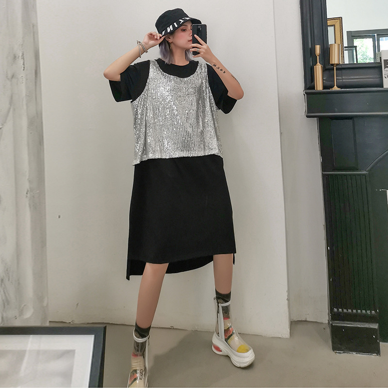 858ed7028 Cheap Johnature de nueva moda Casual de verano de dos piezas conjunto  vestidos 2019 de manga