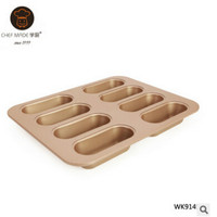 2018 Fashion Easy To Clean 8 Cup Non Stick Hotdog Pan Bread & Loaf Pans