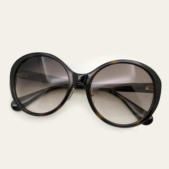 6f2e8bbab High Quality Women Round Sunglasses 2019 Fashion Luxury Brand Designer  Acetate Frame Eyewear Oculos De Sol Feminino with Packing