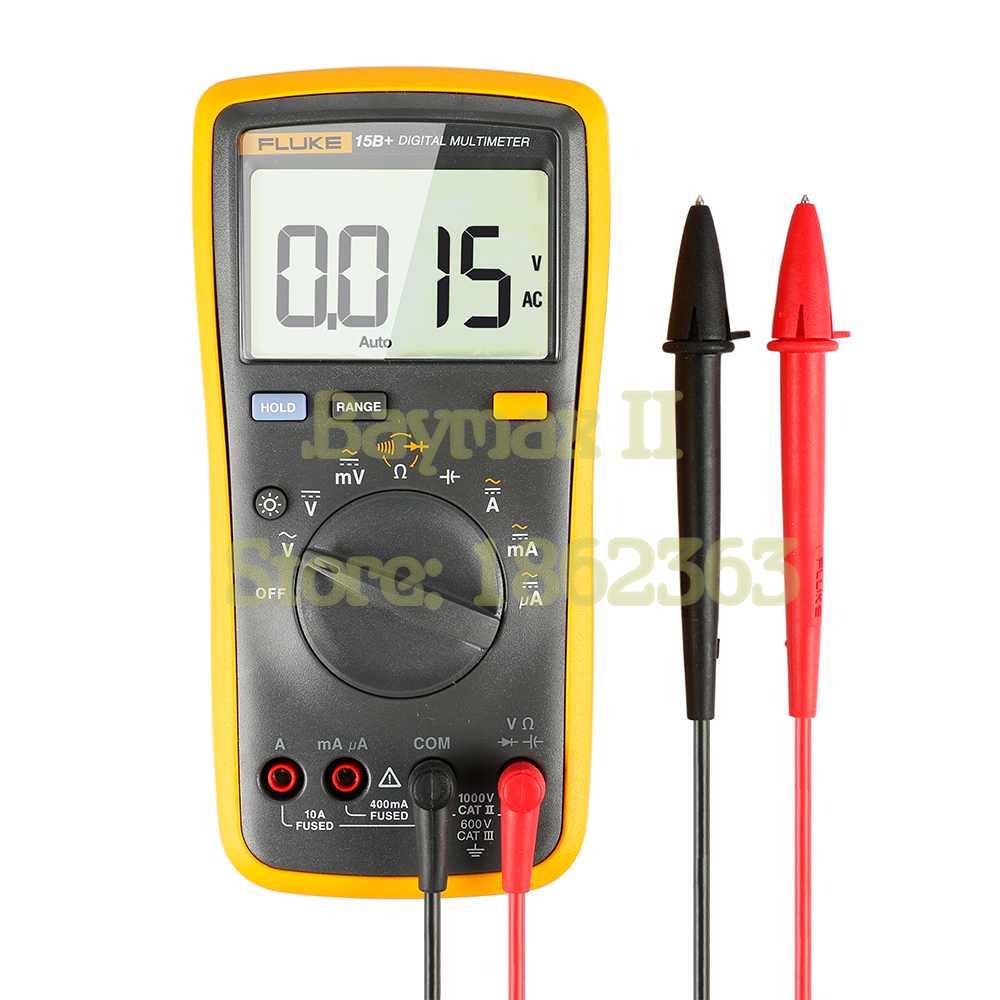 FLUKE 15B+ 4000 Counts AC/DC Voltage,Current,Capacitance,Ohm Auto/Manual Range Digital multimeter meter цена
