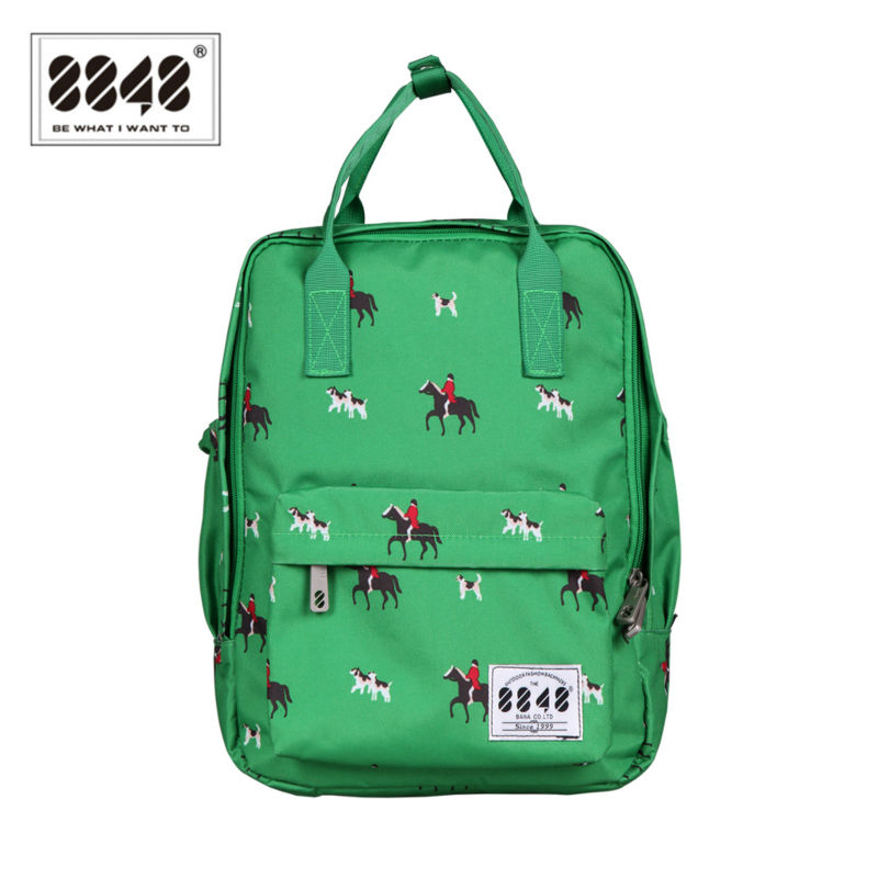 Green Horse Women College Backpack Brand School Bags for Teenagers Girls School Backpacks Children backpacks Free Shipping 3d fantastic animal prints horse unicorn backpacks for teenagers boys girls kids backpack school bags children mochila escolar