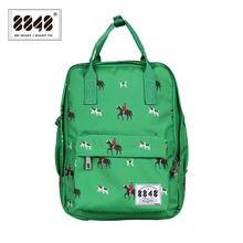 Caballo verde Mujeres de La Universidad Mochila Marca Mochilas escolares para Adolescentes Niñas Mochilas Escolares Niños mochilas Envío Gratis
