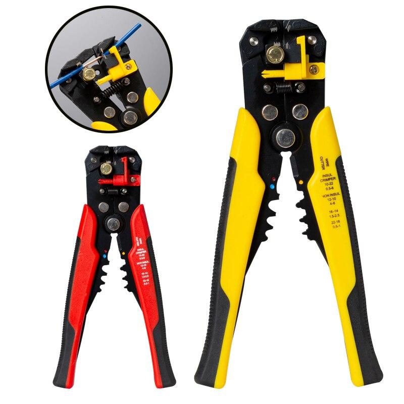 Herramienta que prensa de stripper automático cortador de cable terminal prensa desmantelamiento multiherramienta Pelacables alicates capacidad 0,2-6mm2 24-10