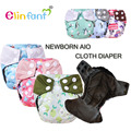 Elinfant 6pcs pack newborn bamboo charcoal aio cloth diaper nappy fit 0-3month baby free shipping#ES051#