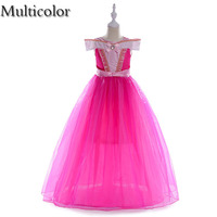 Multicolor High Quality Girls Cosplay Elsa Anna Fancy Dress For Girls Party Princess Kids Clothes Vestido