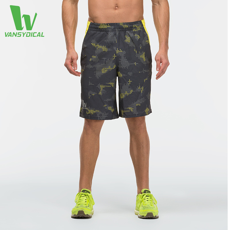 ФОТО Summer Training Fitness Dry Football Basketball Short Trousers Camo Printing Outdoor Sport Hiking Climbing Shorts Men Pantalones