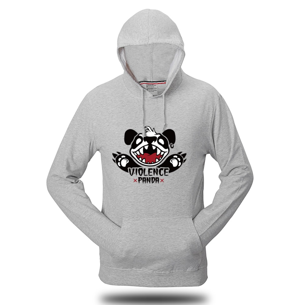 VVTS Hoodies Men/Women Unisex Casual Panda Printed Cotton Sweatshirt Plus Size Long Sleeves Standard Pullover Hoody S 4XL