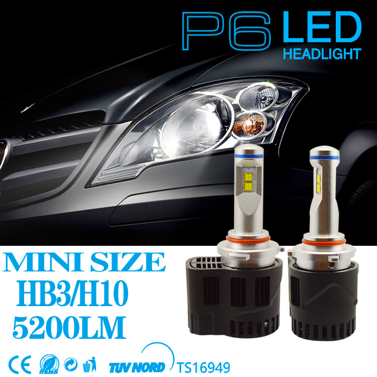 2pcs P6 LED Car Light 55W 5200LM MZ LED Car Headlight Canbus Kit Replace Xenon White 6000K Headlamp Light Source HB3 HB4 Bulb кольца кюз дельта 110932 d