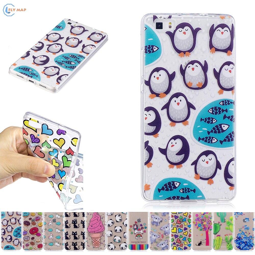 Soft TPU Case for Huawei P8 Lite ALE L21 L23 L02 Unicorn Phone Case for Huawei P 8 Lite ALE-L21 ALE-L23 ALE-L02 Silicone Cover