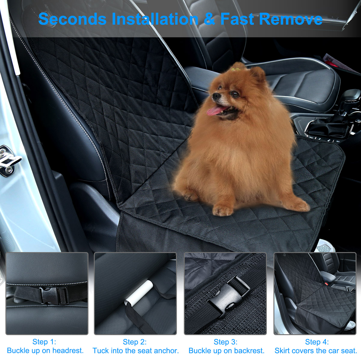 Automobiles Seat Covers Dog Pets Front Seat Protector Waterproof Oxford TPE Car Carry Booster 2 In 1 Carrier Bucket Safety Belt ...