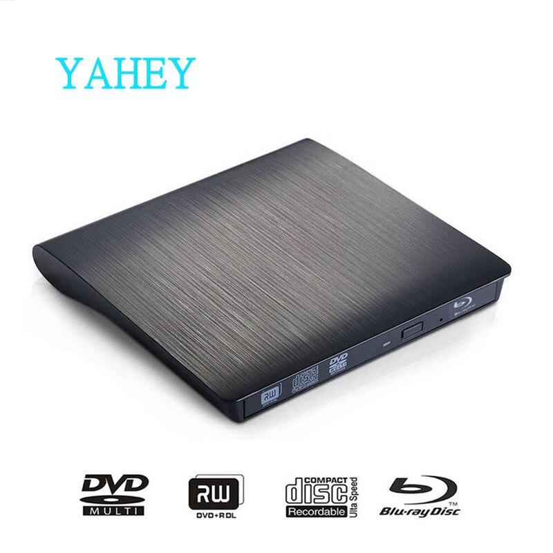 USB3.0 כונן Bluray חיצוני CD / DVD RW מבער BD-ROM Blu-ray Player כונן אופטי סופר עבור Apple iMacbook מחשב נייד מחשב