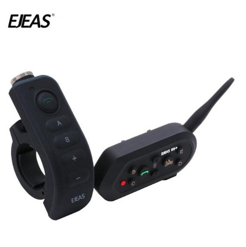EJEAS E6 Plus BT Moto Casque Interphone 1200 M Communicateur Casque Interphone Casques VOX avec Télécommande Pour 6 Coureurs