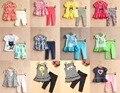 Лето Baby Дети Одежда 2 Шт. Набор Девушки Экипировка Одежда Одежда Из Хлопка Для 0 ~ 3 Лет Ребенка