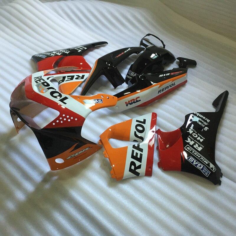 New Motorcycle Fairing kit for HONDA CBR900RR 98 99 CBR900 919 CBR900RR 1998 1999 REPSOL Red orange Fairings Set+7gifts HF70