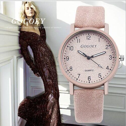 Hot Sales Gogoey Brand Soft Leather Watches Women Ladies Fashion Dress Quartz WristWatches Mujer Montre Feminino Go508