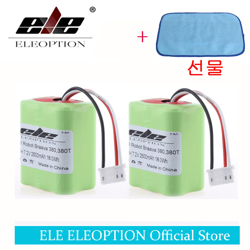 Ni-Mh Rechargeable-Battery Braava Irobot Roomba 2500mah For 380/380t/High-quality 2PCS