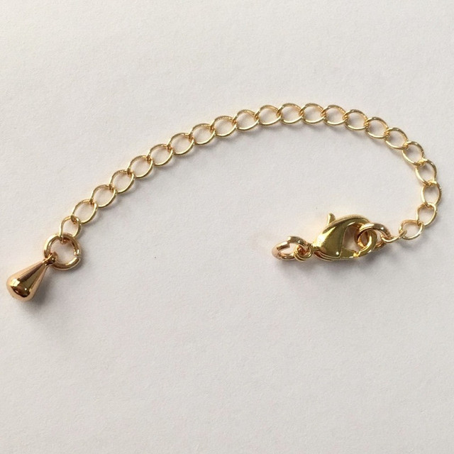 5pcs Rose Gold Necklace Extender Chain Extension With Lobster Clasp