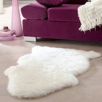 Super Weich Faux Schaffell Stuhlabdeckung Warme Haarigen Teppich Sitz Pad Plain Pelz Plain Flauschigen Teppiche Waschbar Schlafzimmer matte