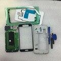 Полный Ближний Рамка Рамка + Переднее Стекло Объектива Крышка Корпуса Case Шасси Полный Case Для Samsung S5 SV G900F G900V G900H + Инструмент + Наклейки