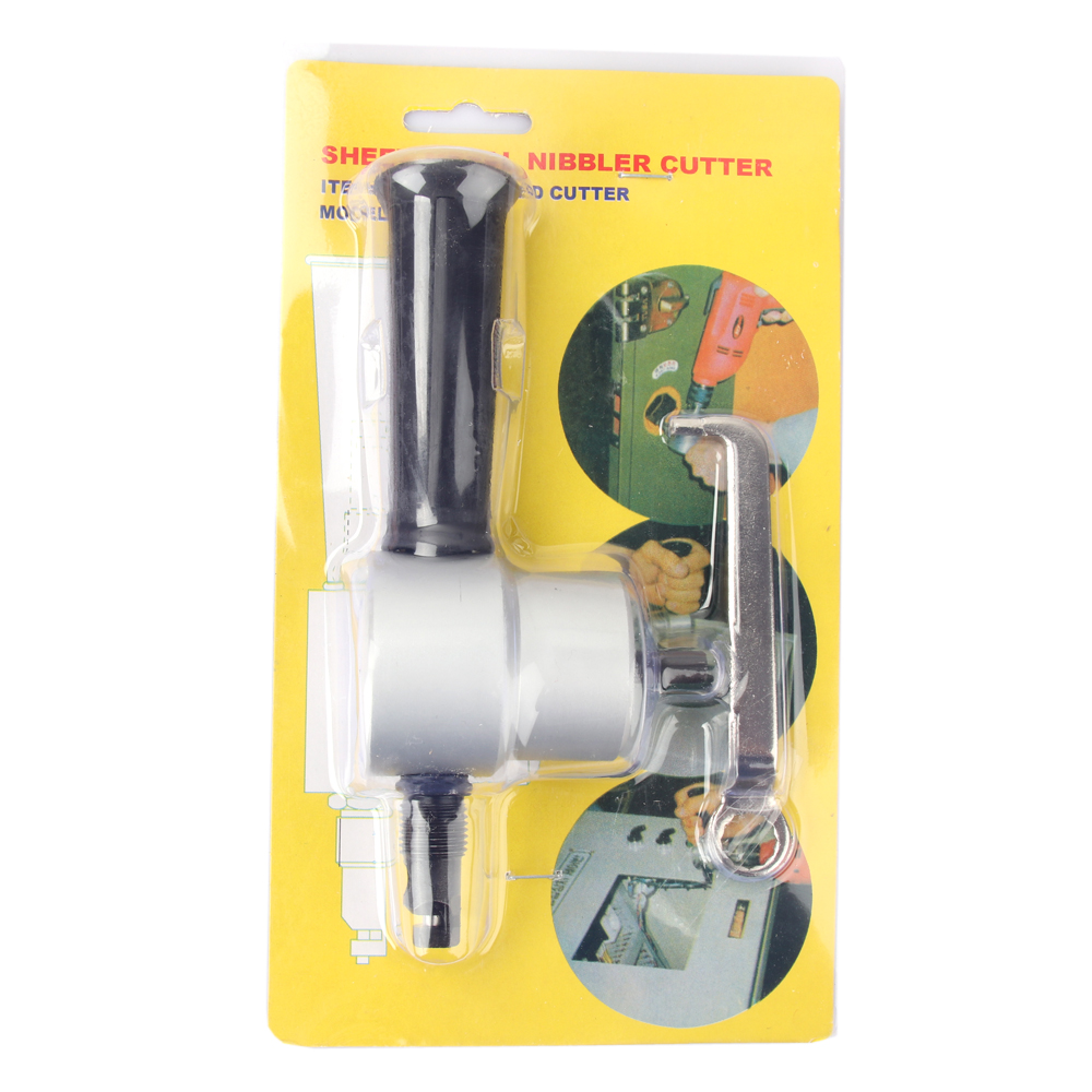 Nibble Metal Cutting Double Head Sheet Nibbler Saw Cutter Tool Drill Attachment Free Cutting Tool Power Tools Accessaries best selling high quality power tools double headed sheet metal cutting machine accessories with wrench hand tool set
