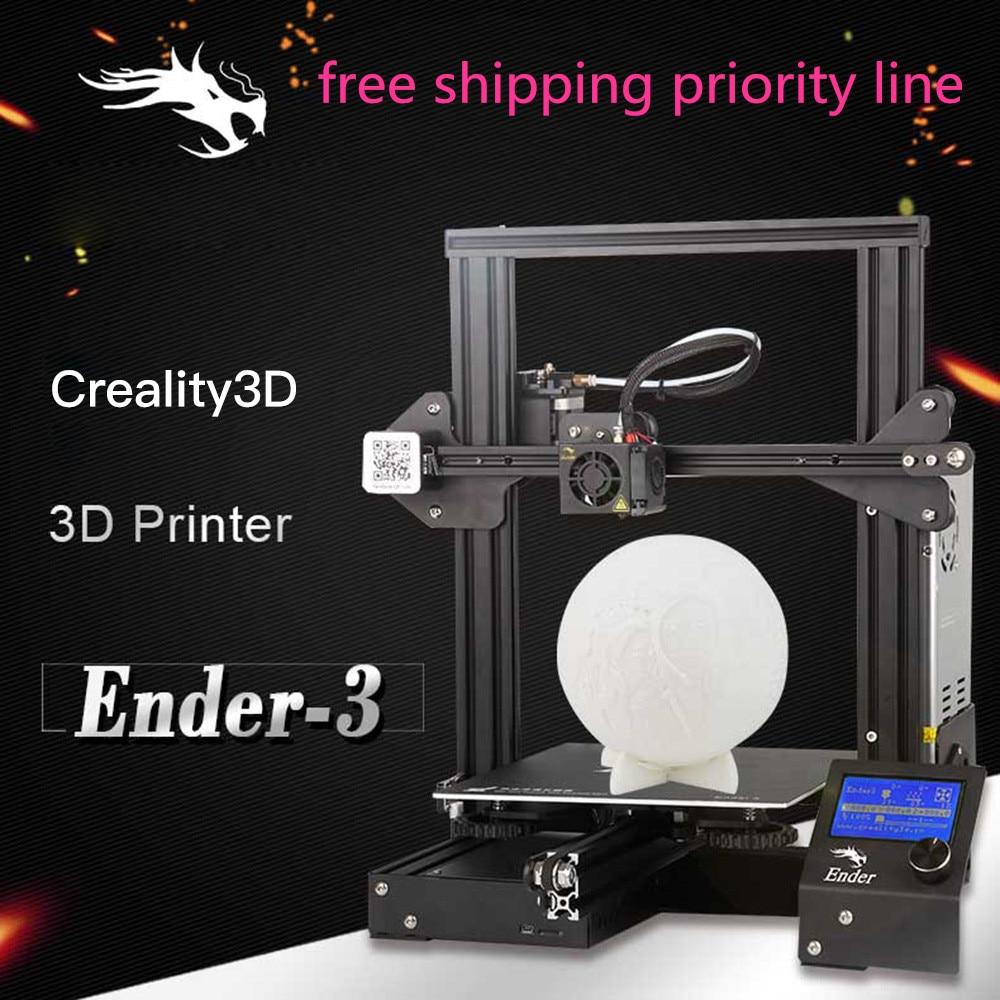 Original Creality 3D Ender-3 Vslot Prusa I3 DIY 3D Printer Kit Ender3 220 x 220 x 250mm with MK10 Extruder 1.75mm 0.4mm Nozzle