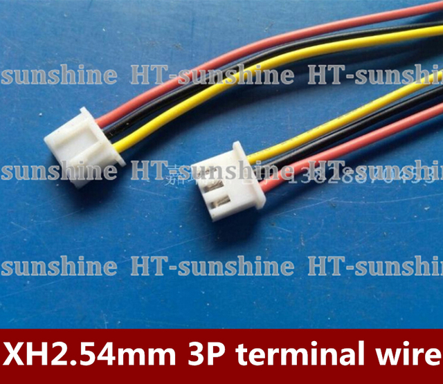 Free shipping 500PCS/LOT XH2.54mm terminal line 3P single Electronic ...