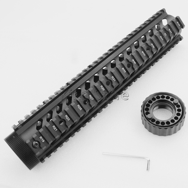 High Quality Tactical M4 AR15 Free Float 12 Inch Handguard Quad Rail .223/5.56 Picatinny Scope Mount Free Float Hand Guard-in Scope Mounts & Accessories from Sports & Entertainment    1