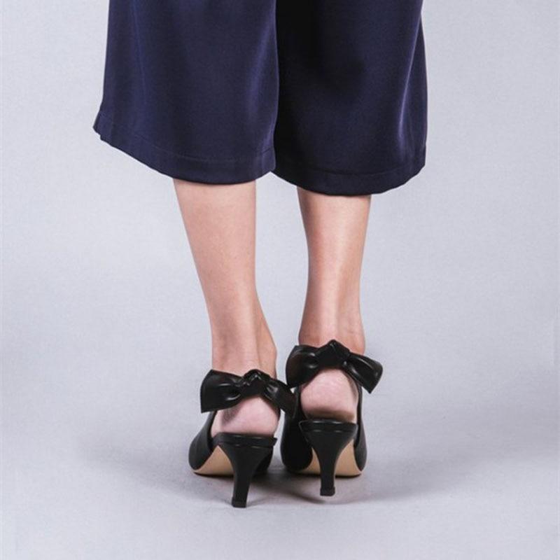 Herbst 12 Damen Spitze Kegel Frühling Größe Zehen Frauen Ferse Slingback Plus Schwarz 13 2018 Pumpen Heels Fsj01 Schuhe Shoes11 XqAafp