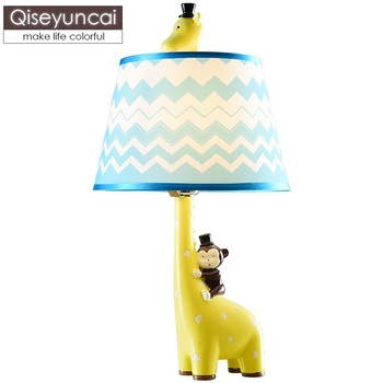 Qiseyuncai Modern minimalist cartoon animal table lamp creative male girl room children bedroom giraffe table lamp free shipping