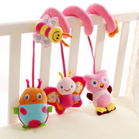 Newborn Baby Rattles Infant Music Educational Toys Cute Spiral Activity Stroller Car Seat Cot Lathe Hanging