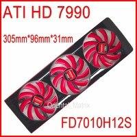 Envío Libre FD7010H12S NTK DC 12 V 0.35A Para AMD ATI HD 7990 Tarjeta de vídeo VGA Del Ventilador Ventilador de la Tarjeta Gráfica HD7990 4 Conductores Ventilador De Refrigeración