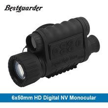 6×50 мм HD цифровой охота Ночное видение Монокуляр очки gps ЖК-дисплей инфракрасный ИК-телескоп 5mp область ночного прицел для животные