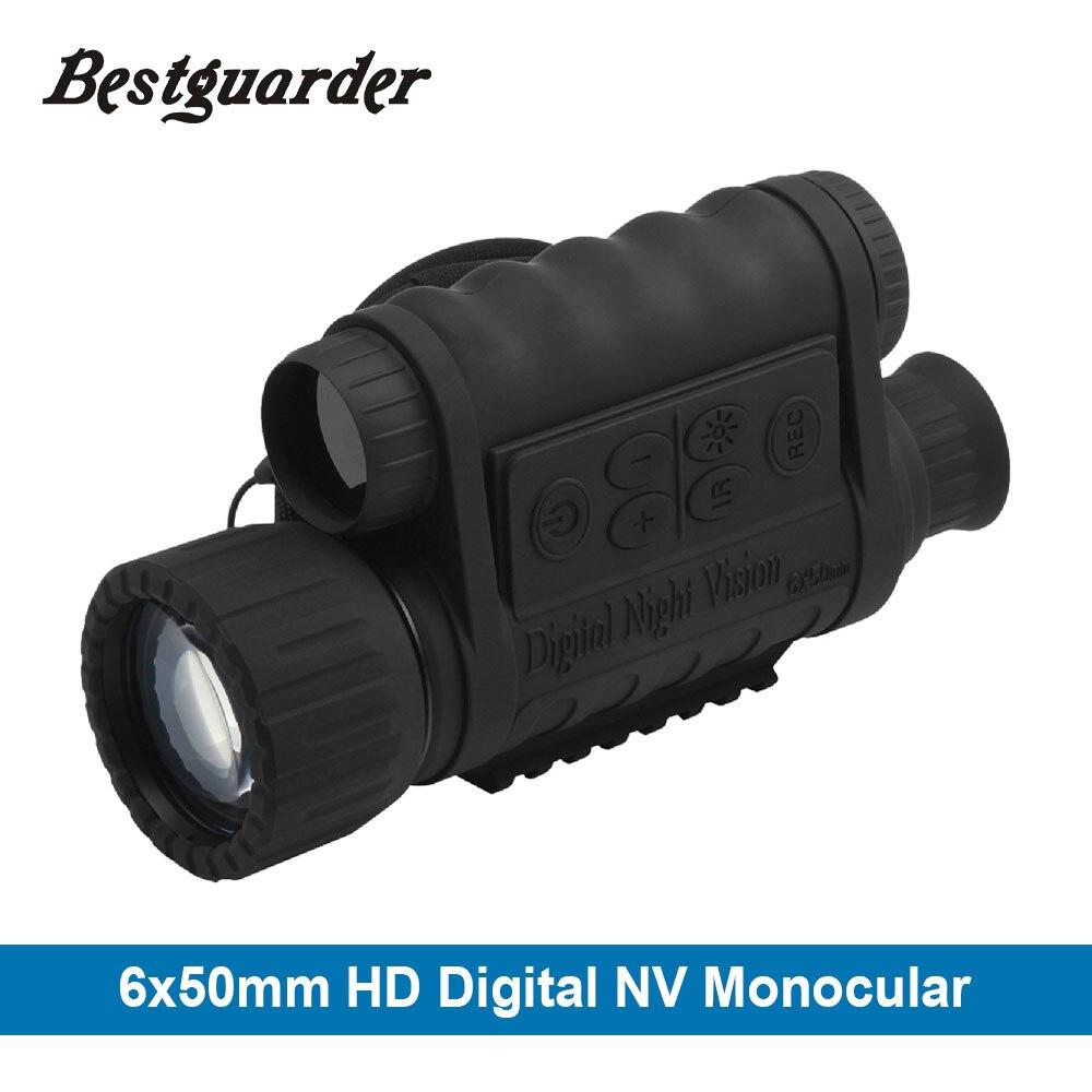 6x50mm HD Digitale di Caccia di Visione Notturna Monoculare Occhiali LCD GPS IR A Raggi Infrarossi del Telescopio 5mp Notturna Portata Riflescope per Gli Animali