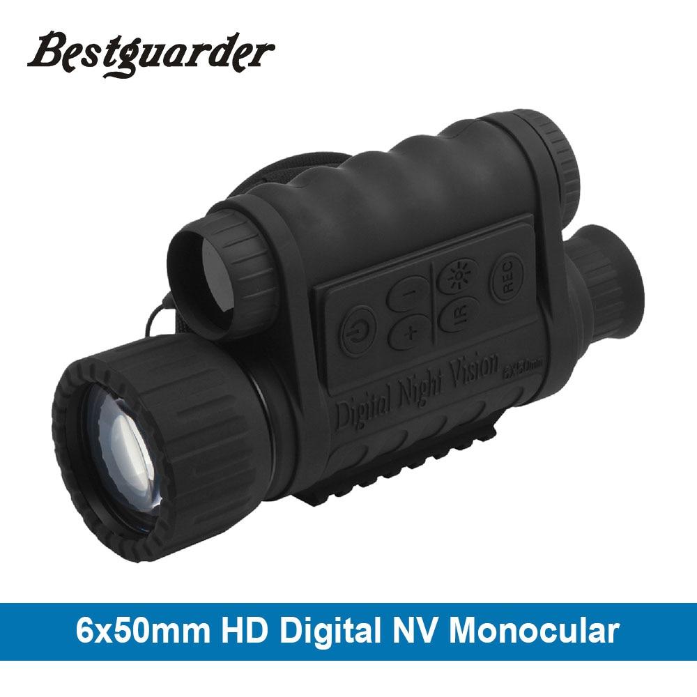 6x50mm HD Numérique Chasse Monoculaire De Vision Nocturne Lunettes GPS LCD Infrarouge IR Télescope 5mp De Nuit Portée de Tir pour Animaux