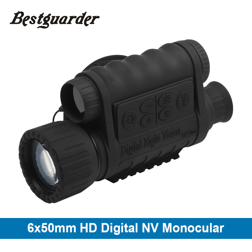6x50mm HD font b Digital b font Hunting Night Vision Monocular Goggles GPS LCD Infrared IR
